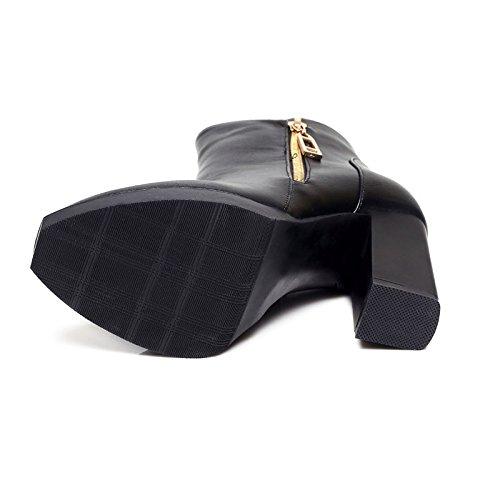de 2018 tacones altos otoño solo Botas de nuevas 5 impermeables plataforma y 390 cortas invierno UE botas de botas black RUGAI botas mujer de Martin plataforma impermeable para 8wqXZS