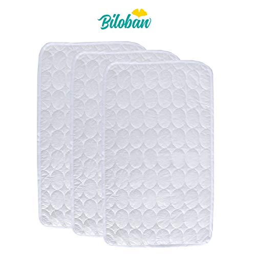 - Changing Pad Liners -100% Waterproof, Baby Skin Friendly, Absorbant Cotton Quilted, Baby Diaper Changing Cover Mat, 3 Count, Larger in 27
