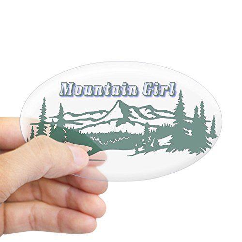 CafePress - The String Cheese Incident - Mountain Girl Sticker - Oval Bumper Sticker, Euro Oval Car Decal
