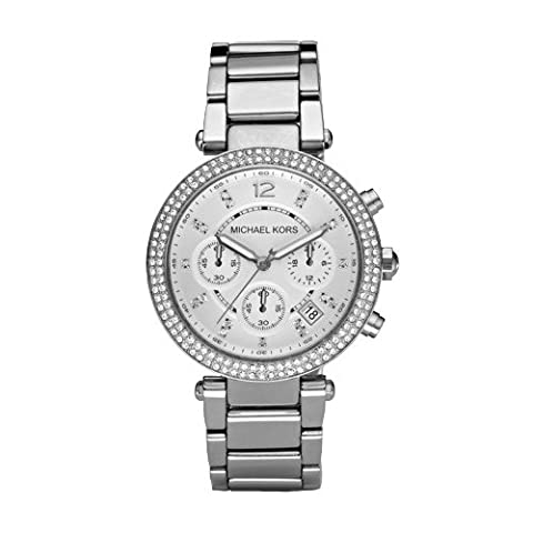 Michael Kors Women's Parker Silver-Tone Watch MK5353 (Watches Michael Kors In Clearance)