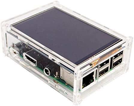 Xia Fly Acrylic Case Compatible for Raspberry Pi 2 Pi3 Model B Original 3.5 LCD TFT Touch Screen Display