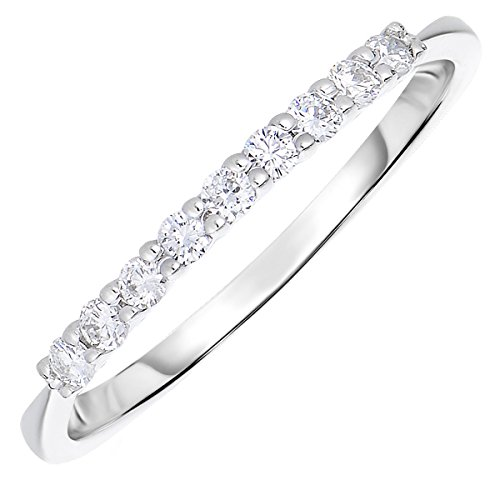 1/5 CT Petite Diamond Wedding Band 14K Gold Size 7 by Vir Jewels