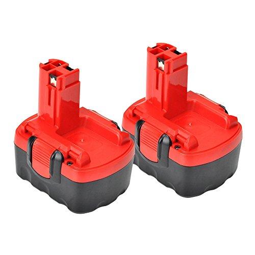 (VANON 2.0Ah 14.4V Ni-CD Rechargeable Replacement Battery for Bosch BAT140 BAT038 BAT040 BAT041 BAT159 Cordless Power Tools (2 Pack))