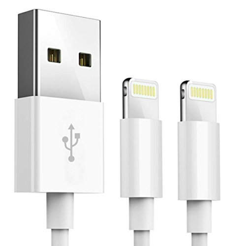 G.SYNC iPhone Charger, 【2 PACK, 3.3 FT】Apple certified Lightning to USB Cable Fast Charge Sync Data Cable for iPhone 7/7 Plus/6s/6s Plus/6/6 Plus/5/5S/5C/SE/iPad and iPod -White