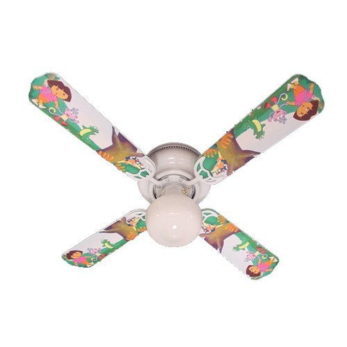 Ceiling Fan Designers Ceiling Fan, Dora The Explorer and Boots, 42''