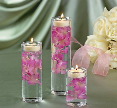 "Glass Cylinder Tealight Holder Ceremony Vase Wedding Centerpiece (3 Pack) 5"", 4"" and 3"". Glass."
