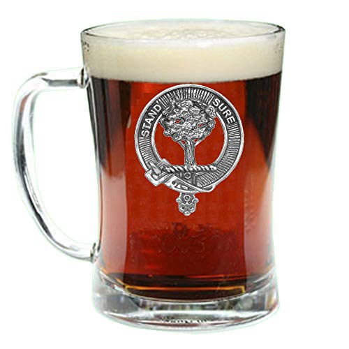 Anderson Scottish Clan Crest Badge Glass Beer Mug