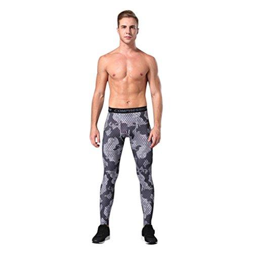 Caopixx Trousers Men Sweatpants, for Men Gym Sport Leggings Athletic Running Jogger Long Pants (Asia Size L3=US Size L2, Gray) from Caopixx Trousers