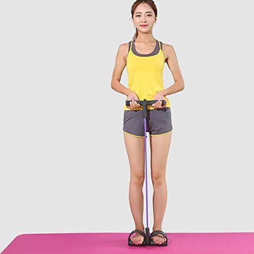 Demarkt Home Fitness Equipment Pedal Resistance Band for Women Men Chest Bodybuilding Expander for Waist Arm Leg Tummy Stretching Yoga Training Red