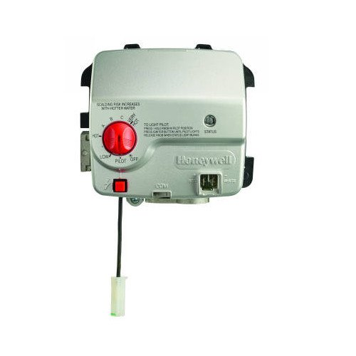 Honeywell WATER HEATER GAS VALVE, STANDING PILOT WITH PIEZO,SETPOINT 55-155F, SPUD LENGTH 2