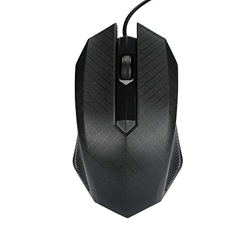 Yuemizi for PC and laptop fashion 1600 DPI USB wired optical gaming mouse and mouse for PC laptop wired mouse (black)
