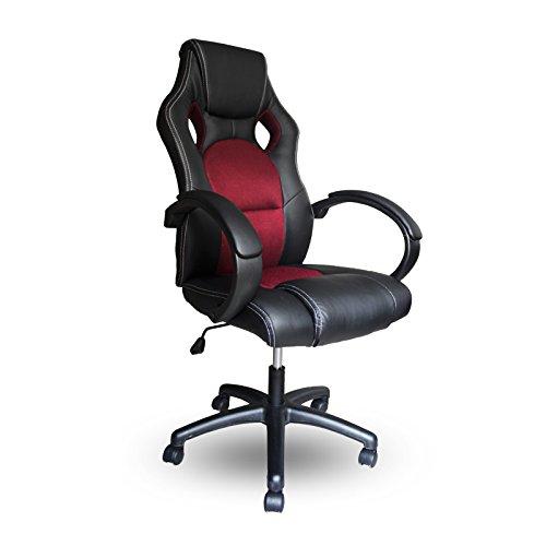 Vingo® Silla ejecutiva de la PU con silla giratoria de la oficina de la tapicería de muy alta calidad Comodidad ergonómica de la silla: Amazon.es: Hogar