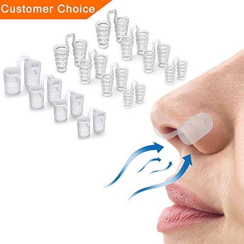 Anti Snoring Devices, Snoring Solution, 12 Snore Stop, Nose Vents to Ease Breathing and Snoring, [2019 Upgraded]Healbody Advanced Snore Nasal Dilators Snore Reducing Aids for Men Women Kids ()
