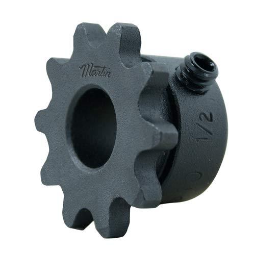 MARTIN SPROCKET & GEAR INC 35BS10 1/2 Sprocket, Roller Chain, 1/2 INCH BORE, 10 Teeth, Steel ()