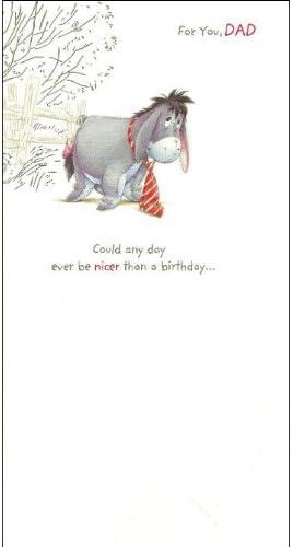 Caracteristique Winnie L Ourson Bourriquet Carte D Anniversaire Happy Birthday Dad Amazon Fr Fournitures De Bureau