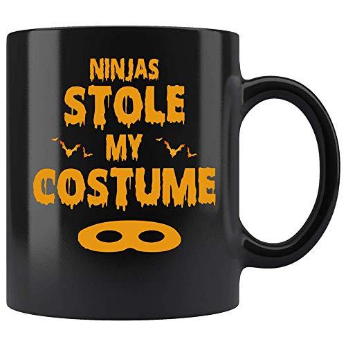 Coffee Mug Ninjas Stole My Costume Coffee Mug Easy Halloween Coffee Mug Gift Ceramic (Black, 11 OZ)]()