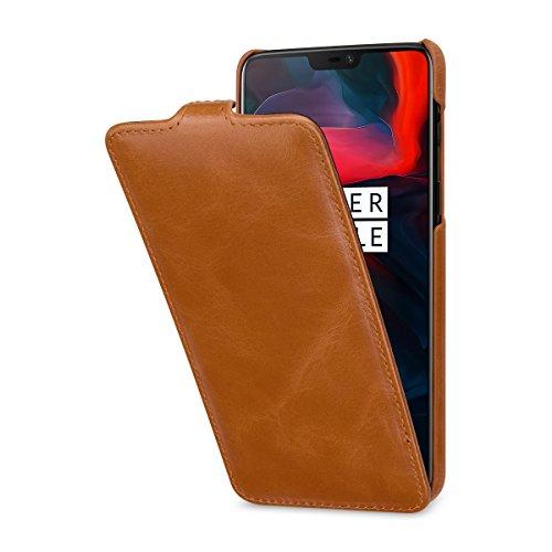 StilGut OnePlus 6 Case. Slim Vertical Leather Flip Cover for OnePlus 6,...