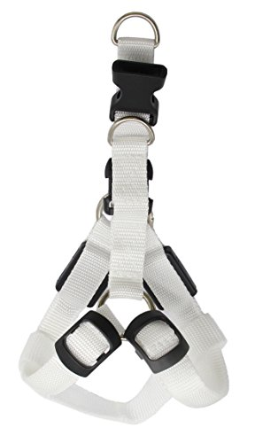 Classic Dog Harness - QiCheng&LYS LED Dog Harness Classic Solid Color Pet Dog Harness Basic Nylon Puppy Vest Outdoor Walking 5 Colors Available (S(12.8