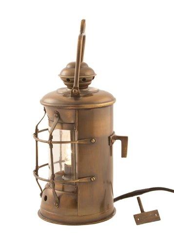 Electric Lanterns - Antique Brass Masthead Lantern 10.5'' - Nautical Lighting by Vermont Lanterns