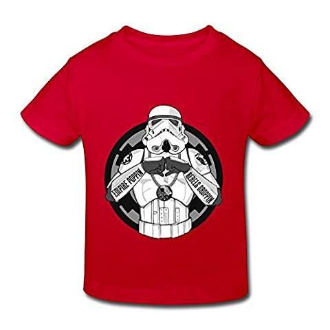 TBTJ Star Wars Minimalistic Stormtroopers Artwork T-shirts For Child 2-6 Years Old Red 4 Toddler - Personalized Free Toddler Tee