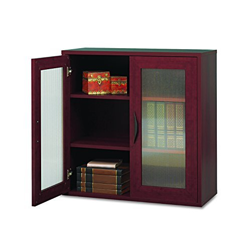 Safco Products 9442MH Apres Modular Storage Cabinet 2 Door Mahogany [並行輸入品] B07B75MHSF