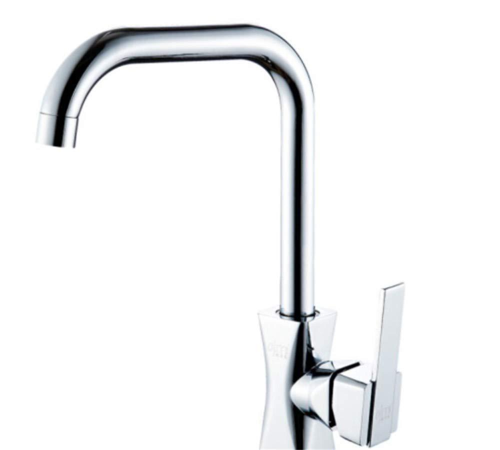Edelstahl Einhand Wasserhähne Küche Kupfer VentilKörper Küche Waschbecken Wasserhahn Waschbaren Wasserhahn Mit Drehbarem Heißem Und Kaltem Wasser