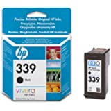 HP 339 C8767E High Yield Black Original Ink Cartridge Deskjet / PSC/ Photosmart/ Officejet /Digital Copier printers - Easy Mail Packaging - Foil Inks