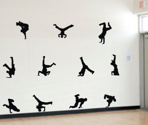 Hip hop Posture Sticker Stickers Removable