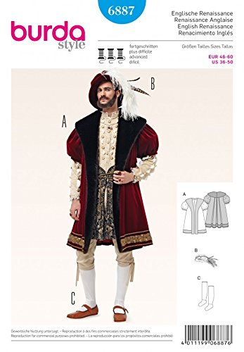 Henry The Eighth Costume (Burda Mens Sewing Pattern 6887 King Henry the 8th Fancy Dress Costume)