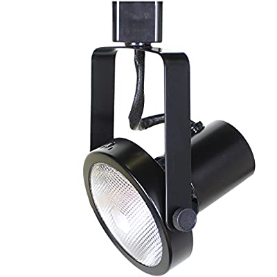 Direct-Lighting 50005 Black PAR30 Short Neck Gimble Ring Line Voltage Track Lighting Head