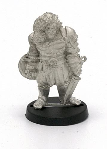 Made in USA for 28mm Scale Table Top War Games Stonehaven Half-Orc Warrior Miniature Figure
