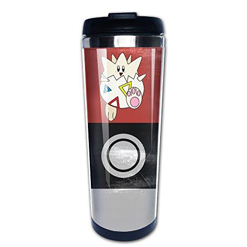 [HighKey Pokemon GO Togepi Stainless Steel Mug / Coffee Thermos & Vacuum Flask] (Pokemon Togepi Costume)