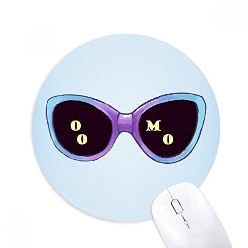 Colorized Illustration Pattern Sun Glasses Round Non-Slip Rubber Mousepad Game Office Mouse Pad - Sunglasses Illustration