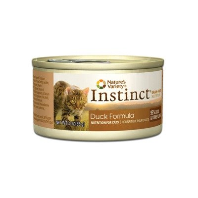 Instinct Grain-Free Duck Formula Canned Cat Food by Nature's Variety, 3-Ounce Cans (Pack of 24), My Pet Supplies
