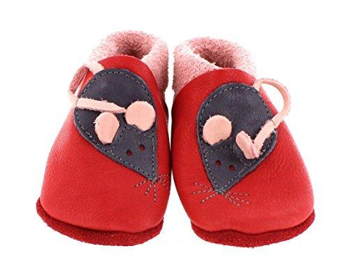 Pololo - Zapatos primeros pasos para niña Rot/Rosa 26