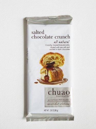 Chuao Chocolatier All Natural Dark Chocolate Bar, Salted Chocolate Crunch, 2.8 Ounce