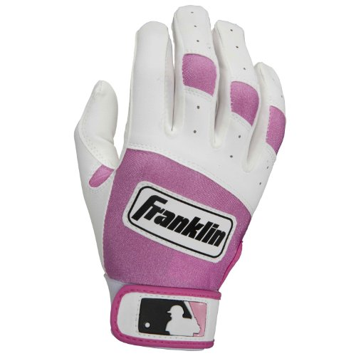 Franklin Sports MLB Youth Classic Series Batting Glove Color: White/Pink, Size: ()