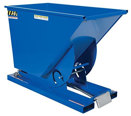 (Vestil D-75-HD Heavy Duty Steel Self-Dumping Hopper with Bumper Release,6000 lbs Capacity, Overall L x W x H (in.) 61-1/8