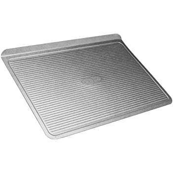 USA Pan Bakeware Cookie Sheet, Large, Warp Resistant Nonstick Baking Pan, Made in the USA from Aluminized Steel