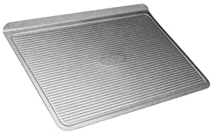 USA Pan Warp Resistant Non-Stick Aluminized Steel Bakeware Cookie Sheet, Large (17-Inch-by-12 ¼-Inch)
