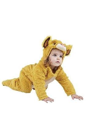 Rubies Disney Simba del león rey de vestuario. Bebé 18-24 meses. Furry mono de una pieza.: Amazon.es: Juguetes y juegos