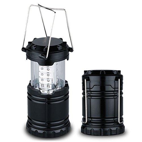 Price comparison product image 1-Pc Reasonable Fashionable 60 Lumens 30 LED Lantern Tent Lamp Brightness Backpacking Camping Light Bright Bivouac Travel Lighting Colors Black