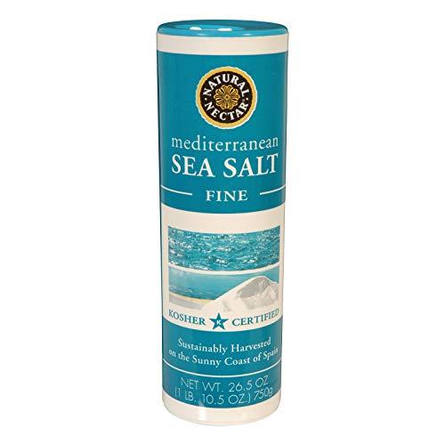 NATURAL NECTAR Sea Salt Mediterranean Fine, 26.5 OZ