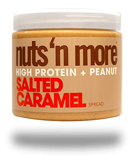 (Nuts 'N More Salted Caramel Peanut Butter Spread, Keto High Protein Nut Butter Snack, Low Carb, Low Sugar, Gluten Free, All Natural, 16 oz Jar)