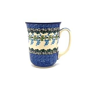 Polish Pottery Bistro Mug – 16 Oz – Wisteria – Ceramika Artystyczna