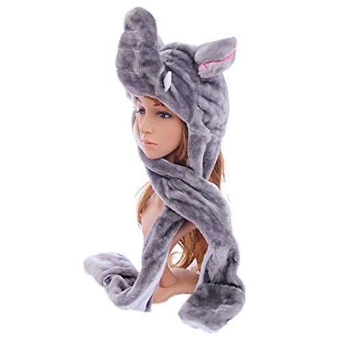 [Elephant_(US Seller)Plush Hat+Earmuff+Scarf and Gloves / Mitten] (Target Cowboy Dog Costume)