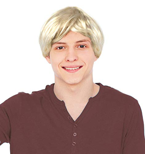 Short Blonde Barney Rubble Wig Barney Rubble Costume Wig for -