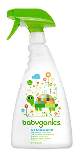 Babyganics Tub & Tile Cleaner, Frangrance Free, 32oz Spray Bottle