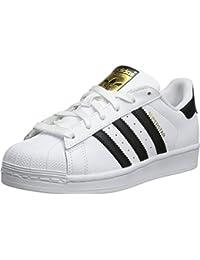 Junior's Superstar Sneaker, White1/White/White, 5