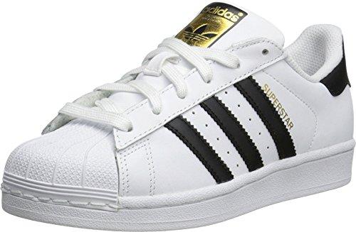 adidas Originals Superstar Running Shoe, Black/White, 5 M US Little ()